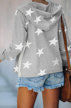 Load image into Gallery viewer, Sporty Gray Star Sweatshirt