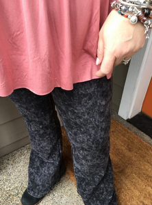 Charcoal Wash Flare Leggings