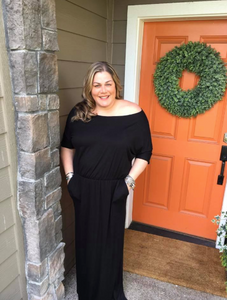 Black Maxi Dress w/ Pockets