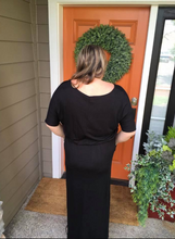 Load image into Gallery viewer, Black Maxi Dress w/ Pockets