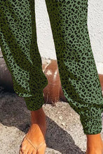 Load image into Gallery viewer, Pre-Order Green Leopard Joggers