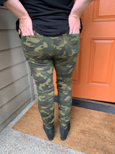 Load image into Gallery viewer, Camo Distressed Jeans