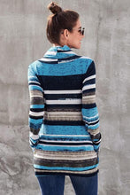 Load image into Gallery viewer, Stripe Cowl Neck Sweatshirts