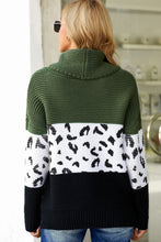 Load image into Gallery viewer, Pre-Order Turtleneck Splicing Chunky Knit Pullover Sweater