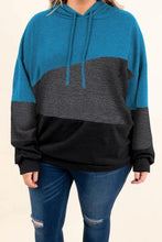 Load image into Gallery viewer, Plus Size Color Block Hoodie
