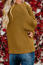 Load image into Gallery viewer, Open Front Chunky Knit Cardigan