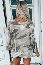 Load image into Gallery viewer, Pre-Order Oversize Camo Print Long Sleeve Top