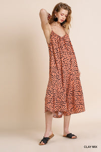 Salmon Polk A Dot Romper