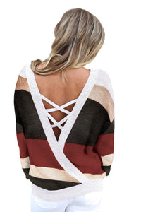 Pre-Order Criss Cross V Back Sweater