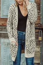 Load image into Gallery viewer, Cream Knit Dot Cardigan