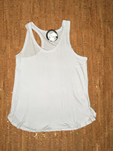 Load image into Gallery viewer, White Racer Back Scoop-Neck Tank Top