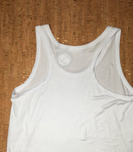 White Racer Back Scoop-Neck Tank Top