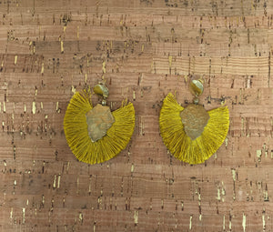 Mustard Fringe Earrings