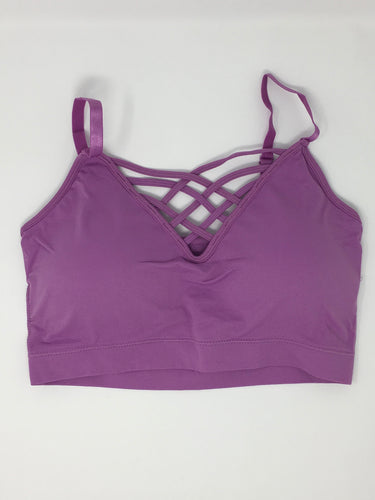 Dark Lilac Criss-Cross Bralette