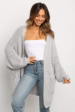Load image into Gallery viewer, Pre-Order Oversized Front Pocket Knit Cardigan