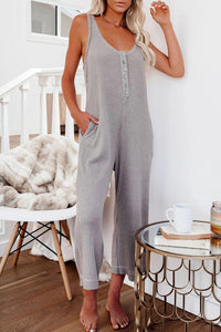 Pre-Order Pocketed Thermal Sleeveless Jumpsuit