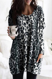 Leopard Tunic with Front Pockets