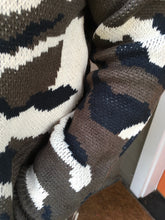 Load image into Gallery viewer, Camo Knit Cardigan