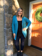 Load image into Gallery viewer, Teal PopCorn Cardigan