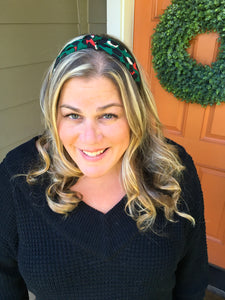 Green Leopard Knot Headband