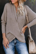 Load image into Gallery viewer, Pre-Order Drape Front Knit Sweater