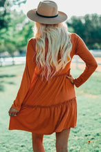 Load image into Gallery viewer, Orange Tiered Tunic/Dress