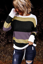 Load image into Gallery viewer, Pre-Order Burgundy/Purple Color Block Sweaters