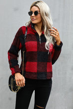 Load image into Gallery viewer, Buffalo Plaid Half Zip Pullover