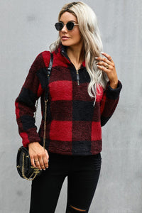 Buffalo Plaid Half Zip Pullover