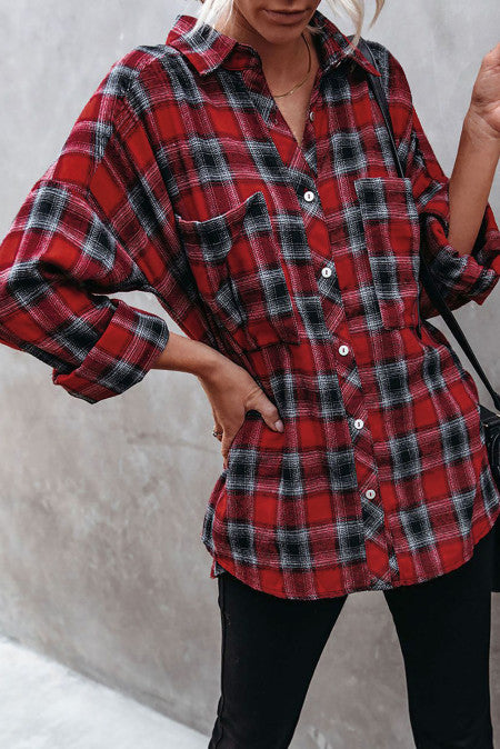 Pre-Order Plaid Tunic Tops