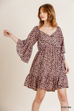 Load image into Gallery viewer, Rose Dalmatian Print Dress