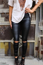 Load image into Gallery viewer, Pre-Order Knee Slit Pleater Leggings