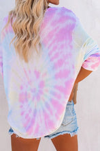 Load image into Gallery viewer, Pre-Order V-Neck Thermal Tie Dye Top