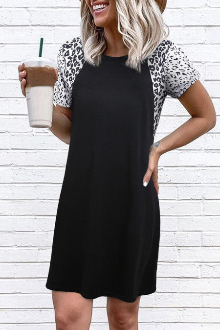 Pre-Order Leopard Accent Tunic/Dress