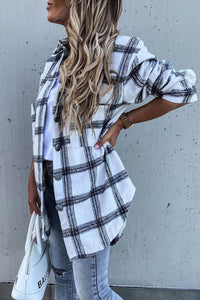 Re-Order White Plaid Tunic