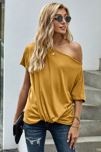 Pre-Order Casual Loos Fitting top with front twist