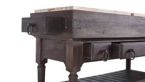 Bramble Co. Large Boucherie Kitchen Island - Accessories Essentials