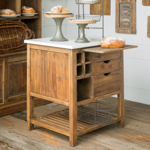 Park Hill Stone Topped Pastry Kitchen Island - Accessories Essentials