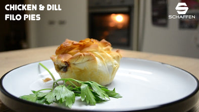 Chicken & Dill Filo Pies