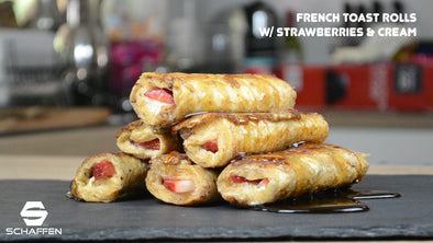 French Toast Rolls with Strawberries & Cream