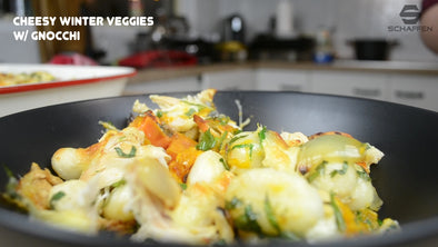 Cheesy Winter Veggies with Gnocchi