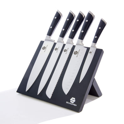 Schaffen 6pc Magnetic Knife Block Set