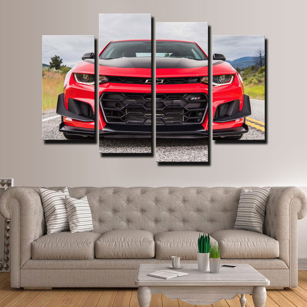 Red Camaro ZL1 Canvas Set
