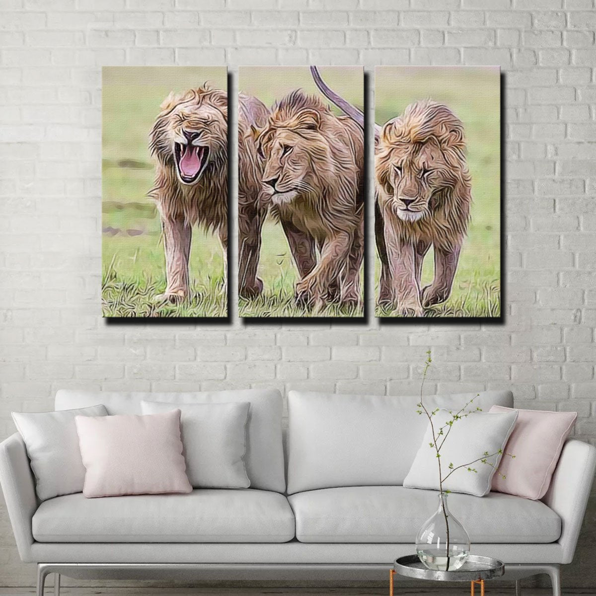 Lions Art Canvas Set