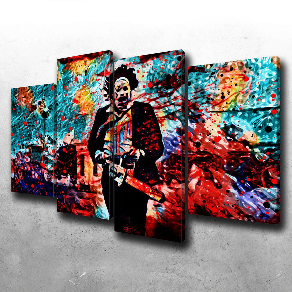 Abstract Leatherface Canvas Set