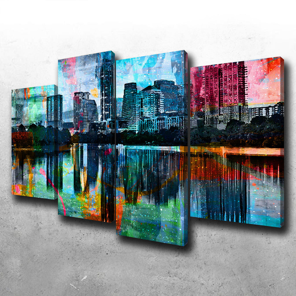 Abstract Austin Canvas Set