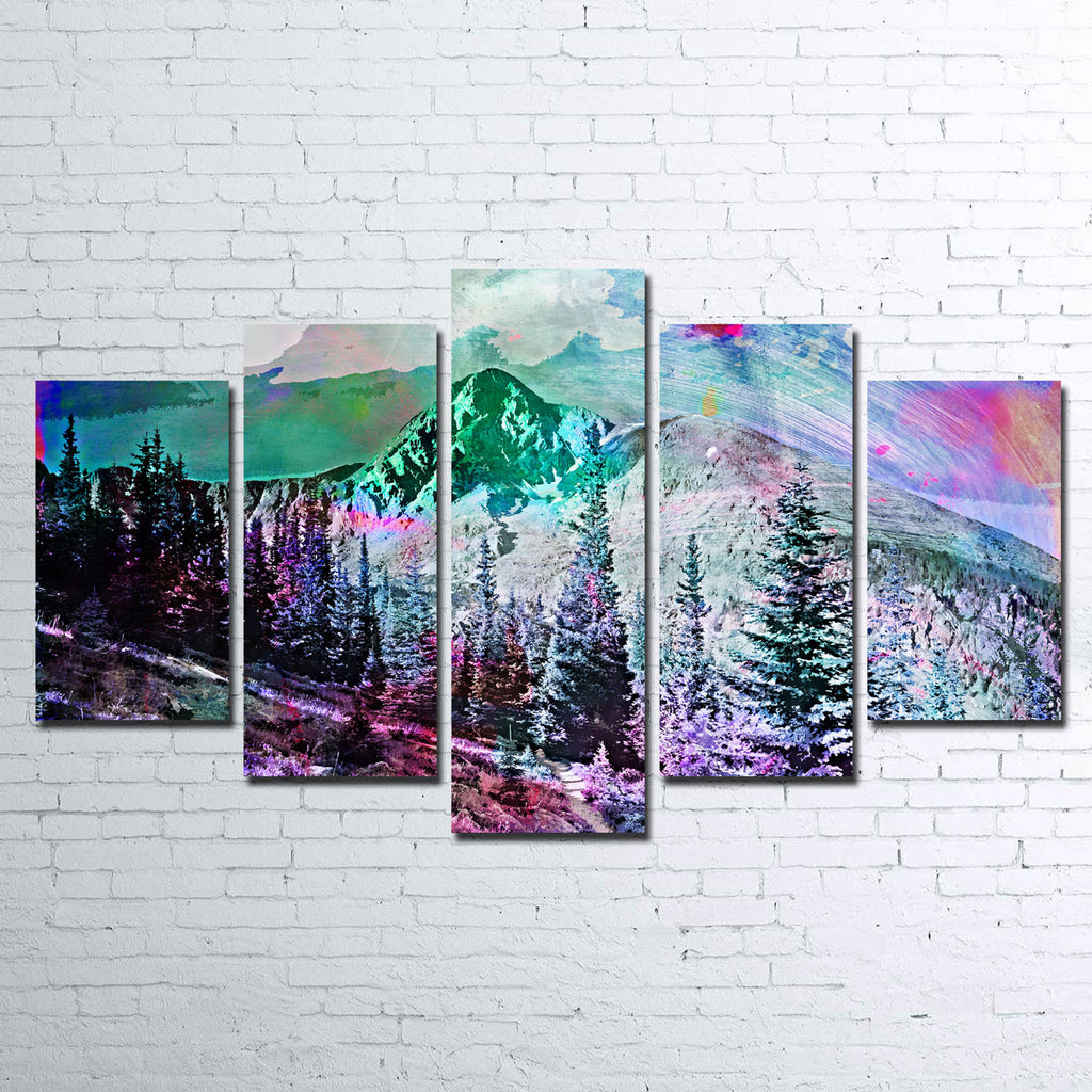 Abstract Holy Cross Canvas Set