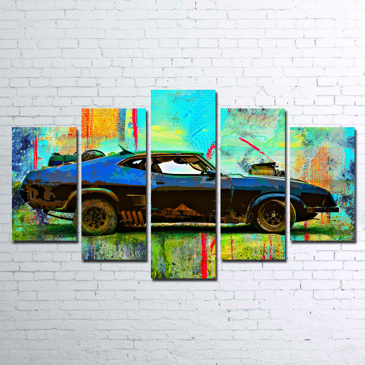 Abstract Interceptor Canvas Set
