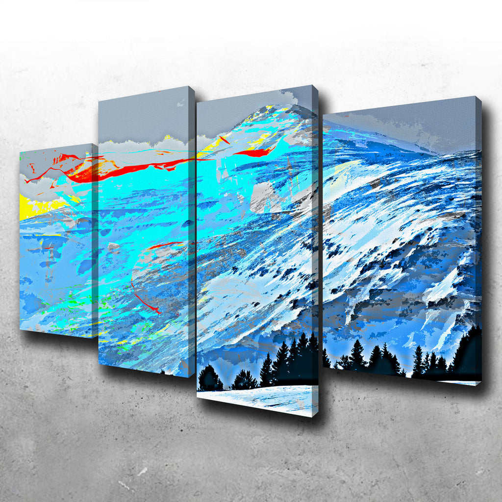 Abstract Lincoln Canvas Set