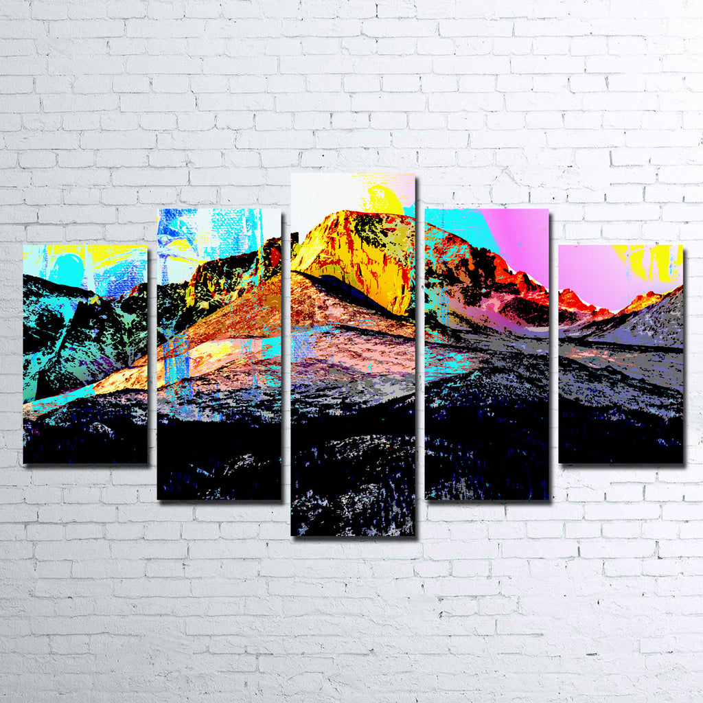 Abstract Longs Peak Canvas Set